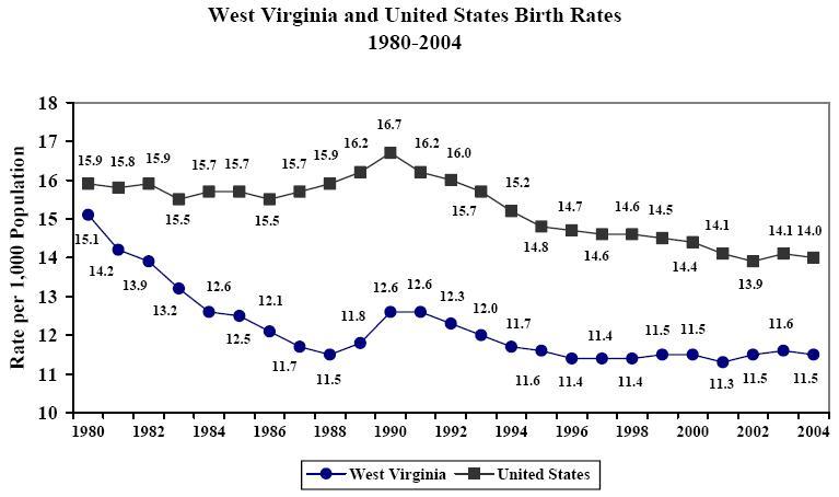 2004 West Virginia Vital Statistics Executive Summary